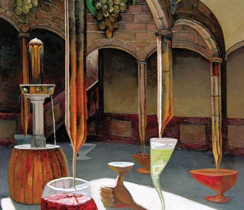 Une cave de vin